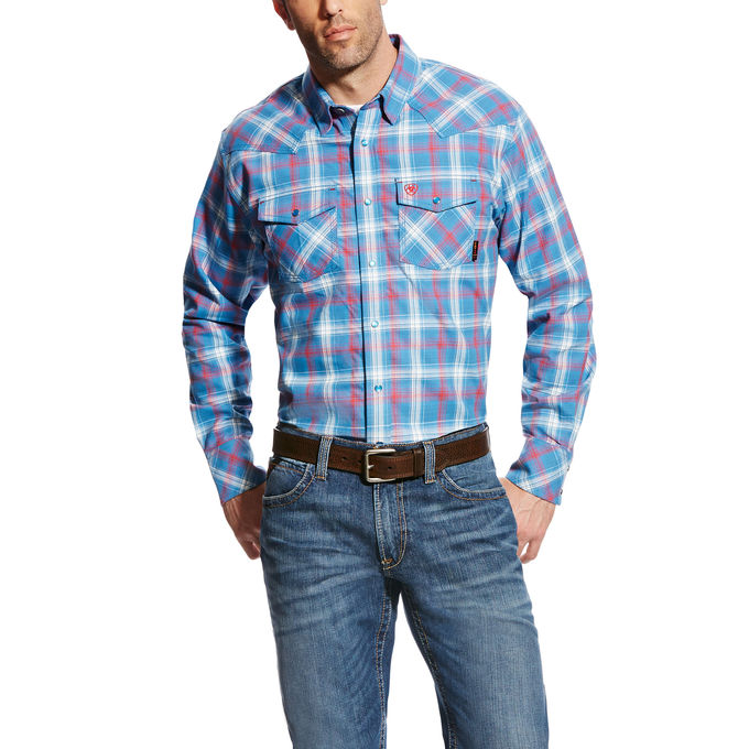 CLEARANCE MEN'S New Ariat FR Basic Manning Retro Work Shirt 10022342