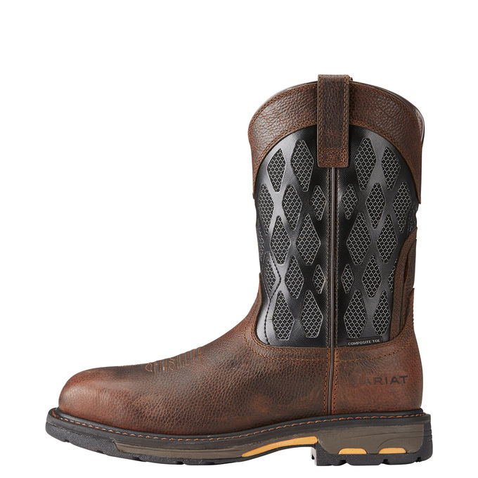 Ariat Men's Workhog VentTEK Matrix Boot - Comp Toe - 10023061 COMES WITH FREE PACK OF SOCKS!