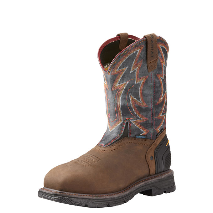 Ariat Men's Catalyst VX Thunder Waterproof Composite Toe Work Boots 10023062 COMES WITH FREE PACK OF SOCKS!