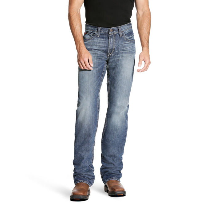 Men's Ariat FR M4 Low Rise Cody GLACIER Boot Cut Jean FROM THE NEW 2018 ARIAT FALL SEASON 10023269