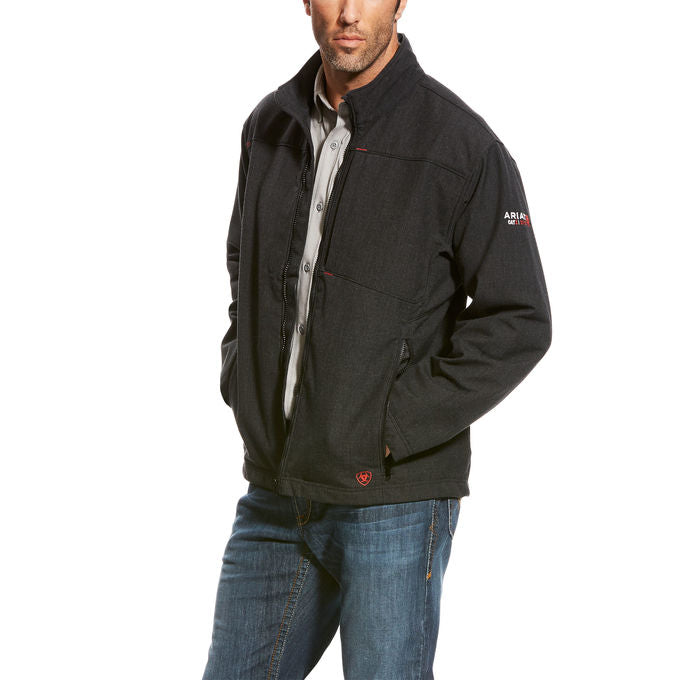 CLEARANCE Ariat FR fire retardant Black Vernon Jacket 10024027 WATERPROOF & wind resistant
