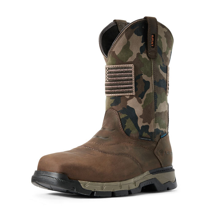 **NEW 2020 Ariat Rebar Flex Patriot Camo Waterproof Composite Toe Work Boots 10029518