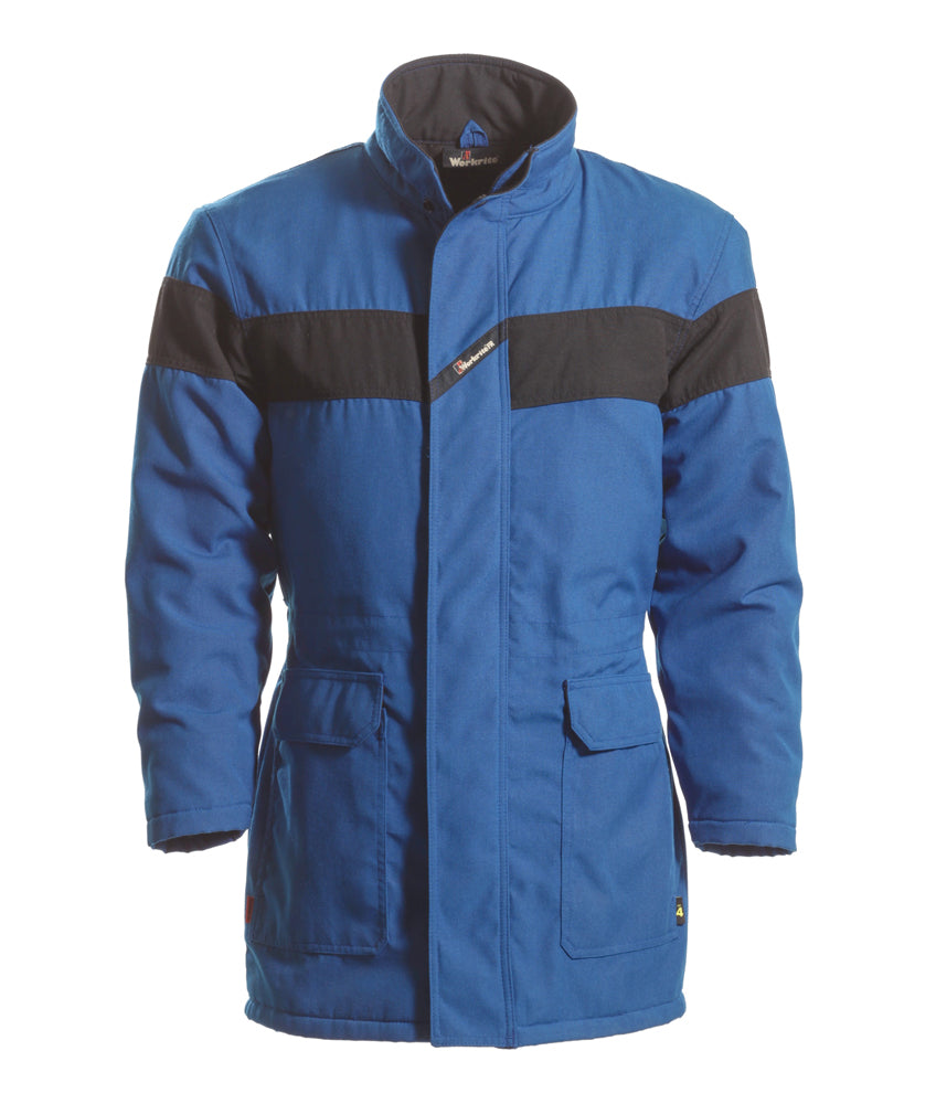 Workrite FR fire retardant USED Royal Blue 6 oz nomex iiia INSULATED parka coat