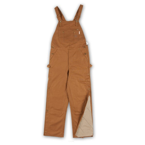 New Rasco FR Quilted Brown Duck Bib Overalls Insulated