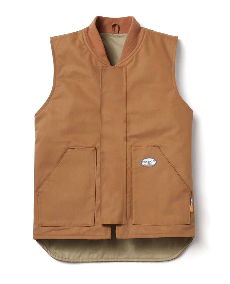 Rasco FR Work Vest in Black and Brown