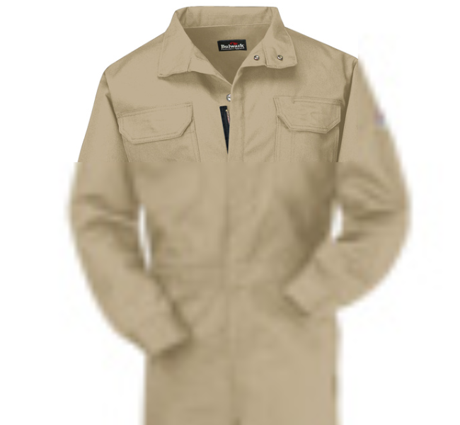 Bulwark FR fire retardant Premium Coverall EXCEL FR® ComforTouch® CAT 2 - CLB3 in Khaki and Navy