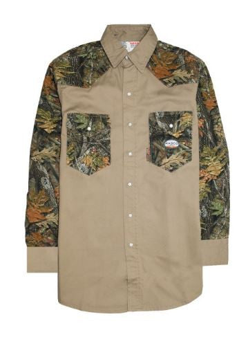 Rasco FR Two Tone Work Shirt with Snaps