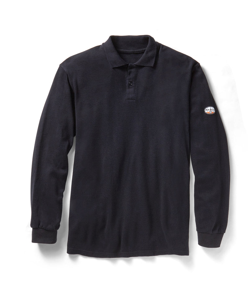 Rasco FR Long Sleeve Navy Polo