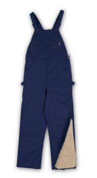 New Rasco FR Quilted Navy Bib Overalls