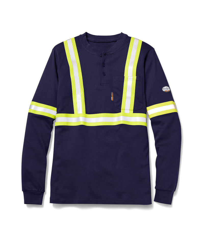New Rasco FR Henley With Reflective Striping