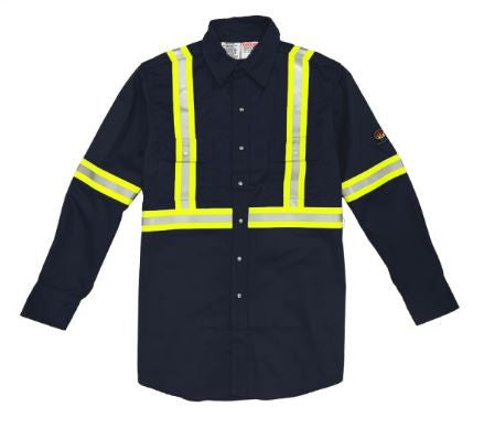 New Rasco FR Lightweight Work Shirt with Reflective Striping
