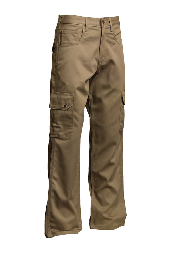 Lapco FR Khaki 9 OZ Cargo Pants- 100% Cotton