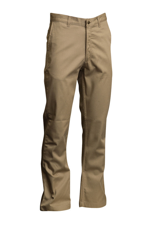 Lapco FR Khaki 7 oz Uniform Pants-100% Cotton