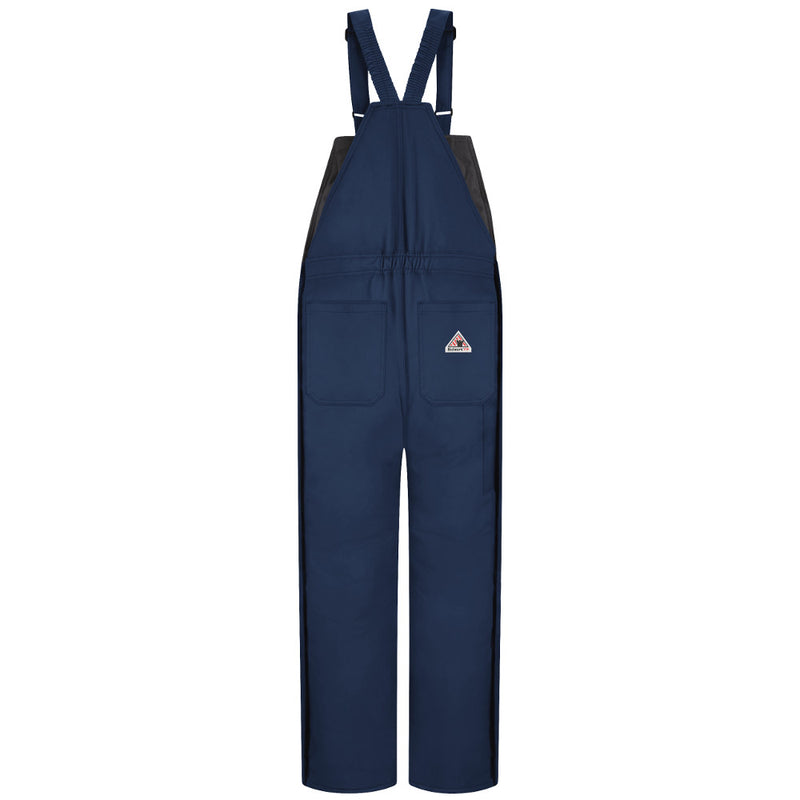 Bulwark FR fire retardant Men's Deluxe Insulated Navy Bib Overall - CAT 4 - BNN2NV