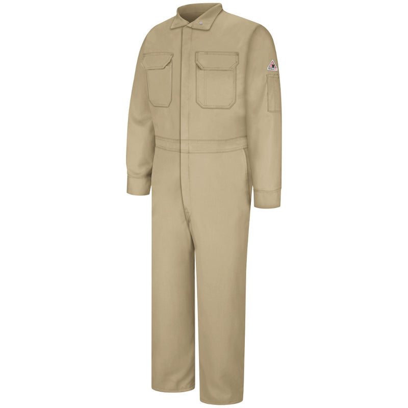 Bulwark FR fire retardant 7 oz. Deluxe Coverall - CAT 2 - CLB2 in Royal Blue, Navy, and Khaki