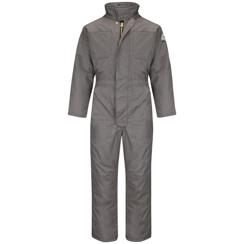 Bulwark FR fire retardant Deluxe Insulated Coverall - CAT 3 -CLC8 IN NAVY AND GREY
