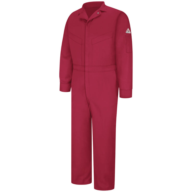 Bulwark FR fire retardant EXCEL FR® ComforTouch® Deluxe Coverall - CLD6 in Khaki and Red