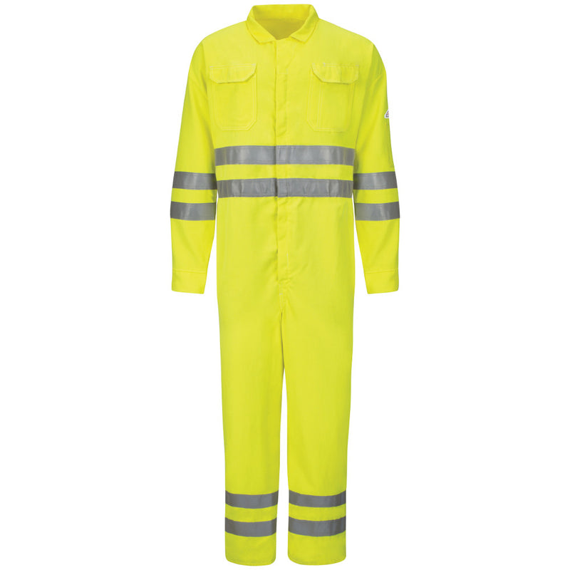 Men's FR Bulwark Hi-Vis Deluxe Coverall with Reflective Trim - CoolTouch® 2 - 7 oz. CMD8HV