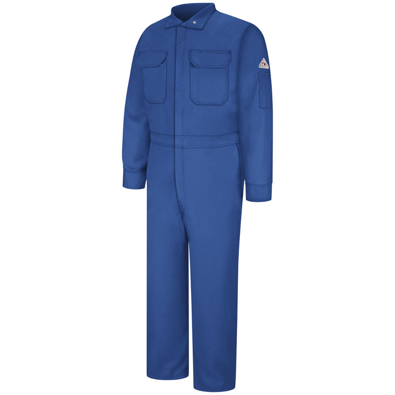 Bulwark FR fire retardant Deluxe Coverall - 4.5 oz. - CNB2 in Tan, Navy, and Royal Blue