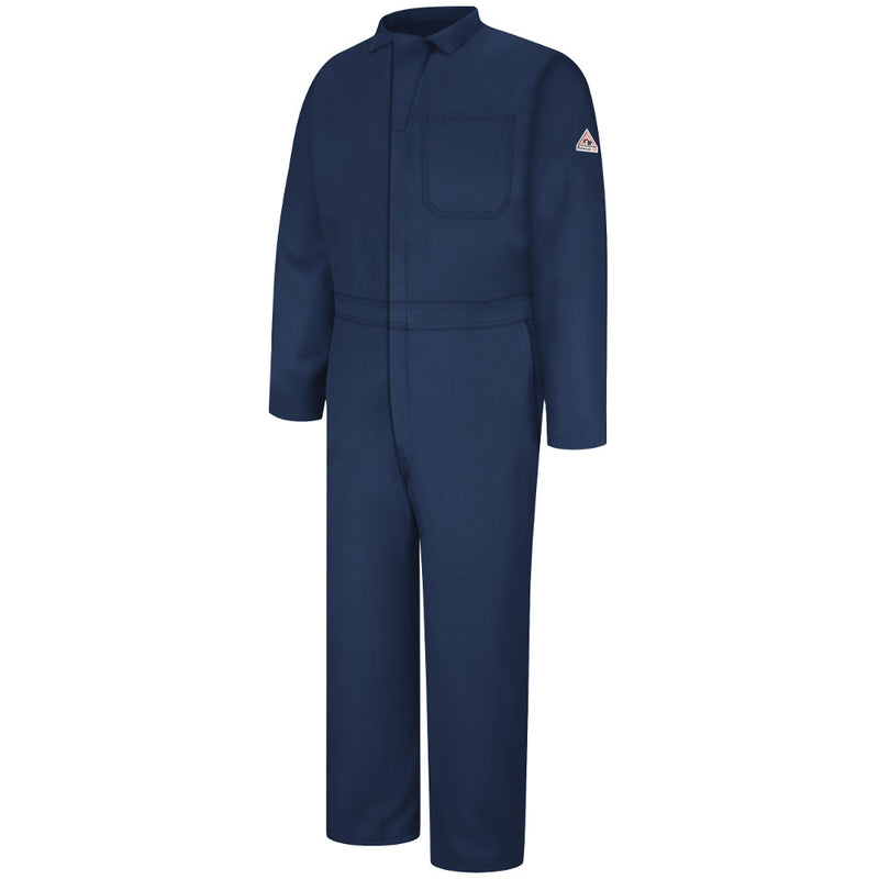 Men's Bulwark FR fire retardant Contractor Coverall - 4.5 oz. - CAT 1 - CNC2 in Navy and Tan