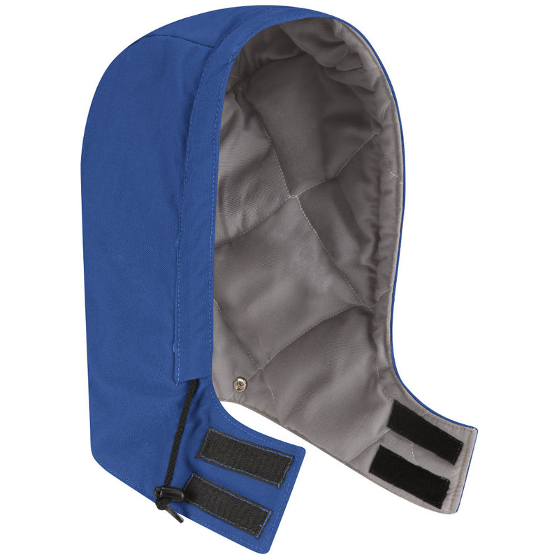 Men's Bulwark FR UNIVERSAL FIT SNAP-ON HRC/CAT3 HOOD HLH2 in Navy, Brown Duck, Royal Blue, and Orange