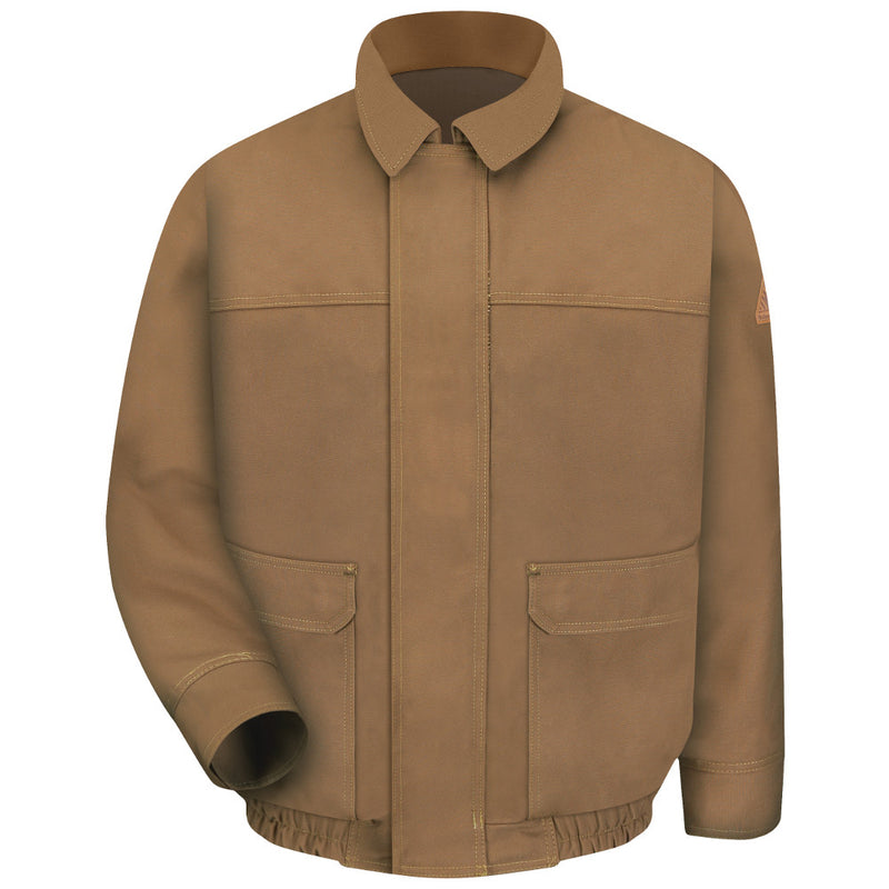 Bulwark FR fire retardant Brown Duck Lined Bomber Jacket - CAT 3 - JLB8BD