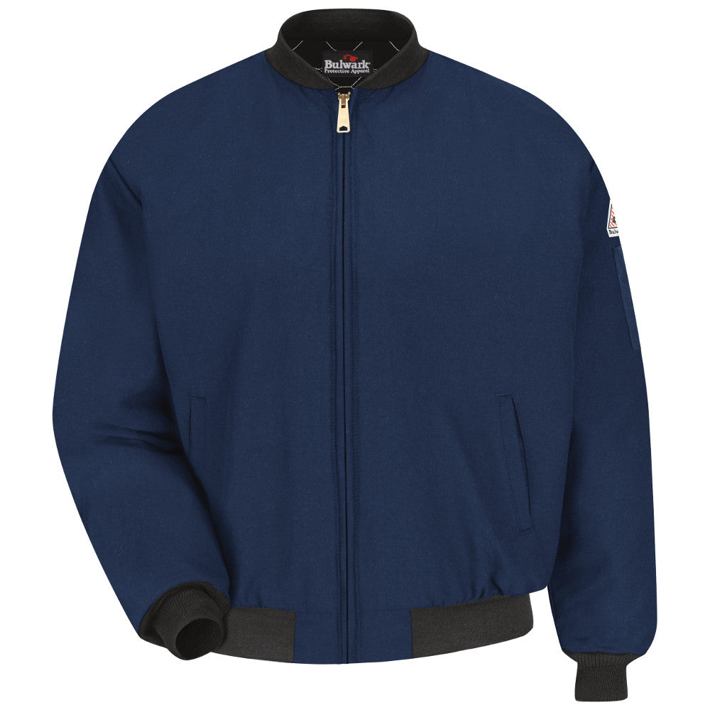 Bulwark FR fire retardant insulated Navy Team Jacket - CAT 4 - JNT2NV