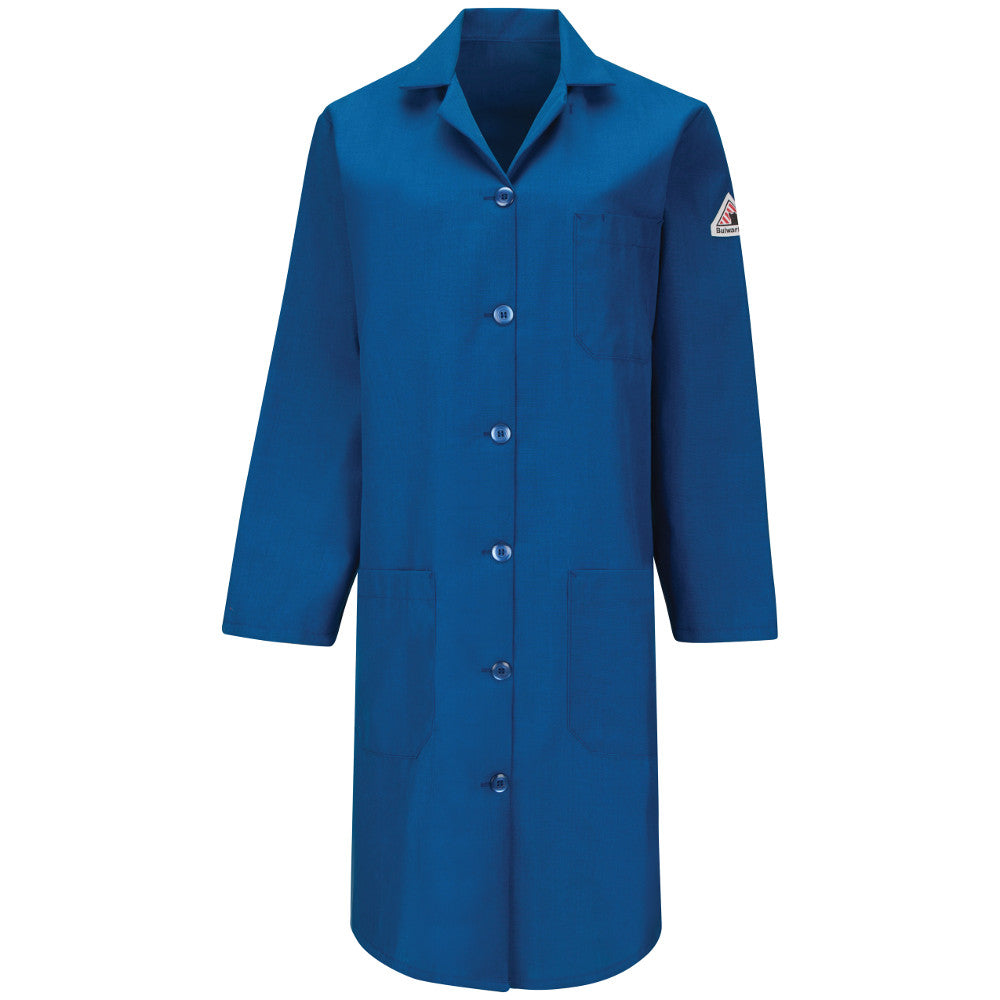 Bulwark FR fire retardant WOMEN'S ROYAL BLUE LAB COAT KNL3RB