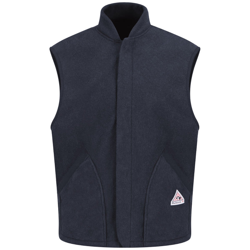 Bulwark FR fire retardant Navy FLEECE VEST JACKET LINER - CAT 2 - LMS6NV