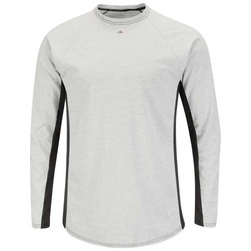 Men's Bulwark FR flame resistant Two-Tone Long Sleeve Shirt Base Layer - CAT 1 - MPU8GY