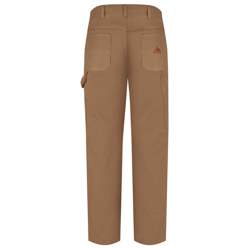 Bulwark FR fire retardant Dungaree Carpenter Slacks Pants - EXCEL FR® ComforTouch® - 11.0 oz. - PLJ8 in Navy, Olive, and Brown Duck