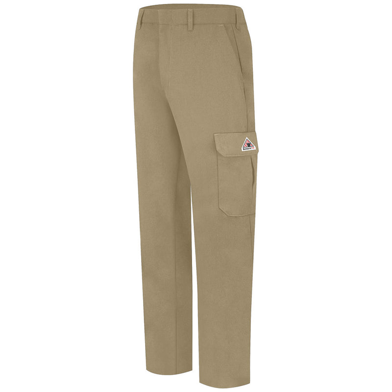 Bulwark FR fire retardant Men's Cargo Pocket Work Pant Slack - CAT 2 - PMU2 in Navy and Khaki