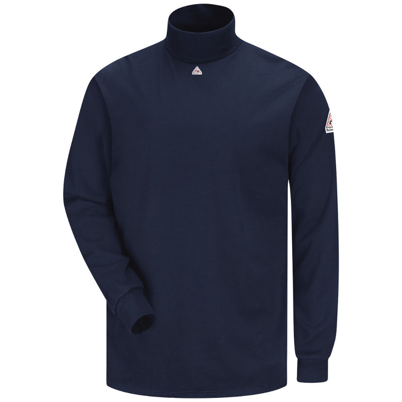 Men's Bulwark FR fire resistant Navy Tagless Mock Turtleneck - CAT 2 - SEK2NV