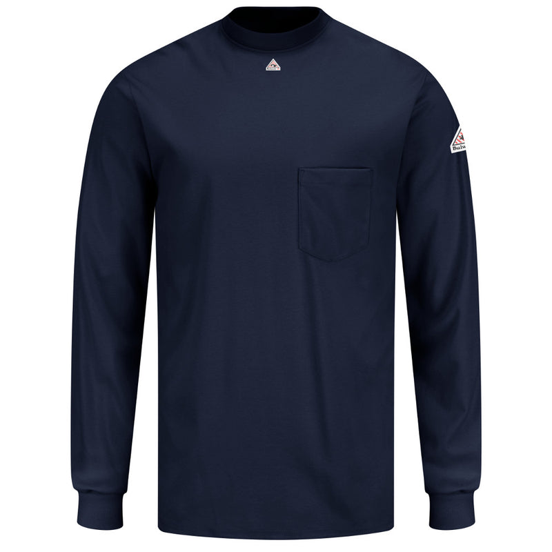 Men's Bulwark FR fire retardant Knit Long Sleeve T-Shirt - CAT 2 - SET2 in Grey and Navy