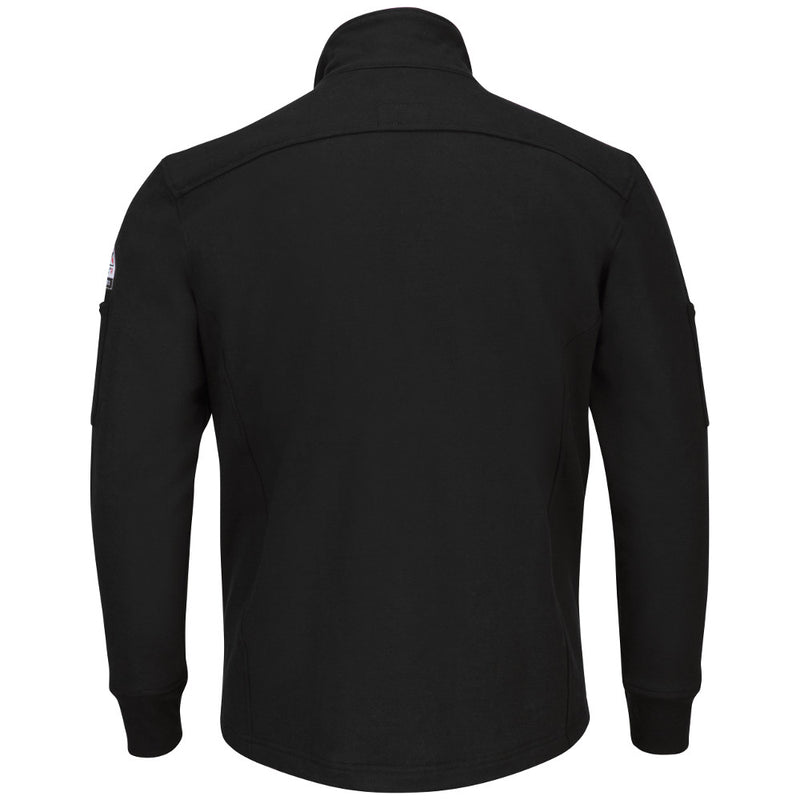 Men's Bulwark FR FULL ZIP Black FLEECE JACKET Coat SEZ2BK
