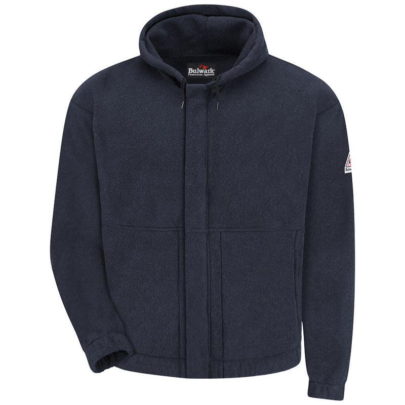 Bulwark FR fire retardant Men's 8 OZ MOD/NOMEX SWEATSHIRT NAVY - CAT 2 - SMH6NV