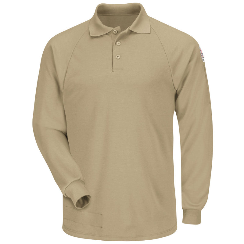 36e4a4ef81b Men s Bulwark FR flame resistant Long Sleeve Classic Polo - CAT 2 - SMP2 in  Grey