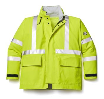 Rasco Hi-Vis Yellow FR Rain Jacket-RJY1000