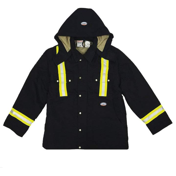 Rasco Black Duck FR Fire Retardant Reflective Utility Coat FR3807BK BLHC2426