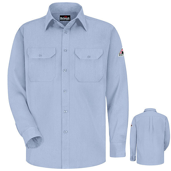 Men's FR Bulwark Uniform Shirt - CoolTouch® 2 - 5.8 oz. in Grey, Khaki, Light Blue, and Navy SMU4