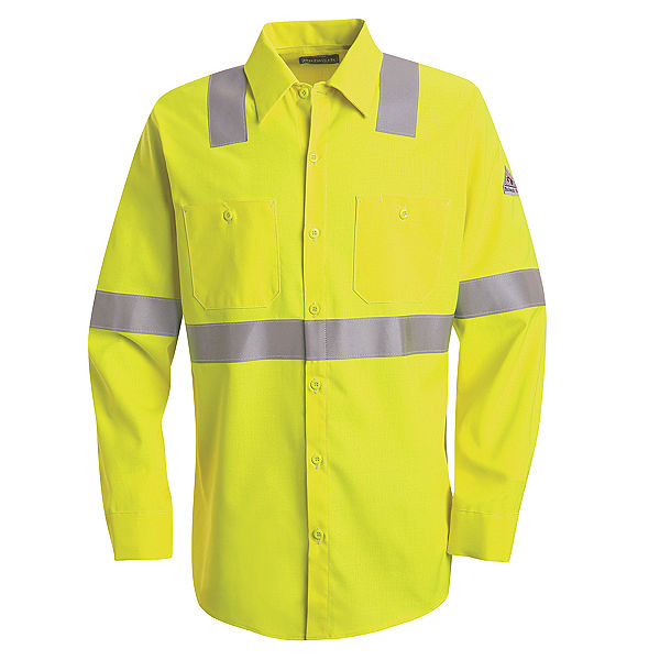 Men's FR Bulwark Hi-Visibility Work Shirt - CoolTouch® 2 - 7 oz. SMW4HV