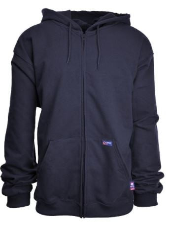 Lapco FR 12 oz Full Zip Hoodie- 95/5 Cotton-Spandex Blend Fleece