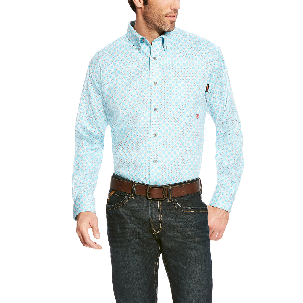 CLEARANCE Ariat FR Shreve Print Work Shirt 10020817 SIZES: SMALL AND 2XL-TALL