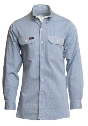 Lapco FR 7 oz Striped Uniform Shirt-100% Cotton