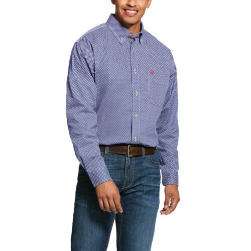 CLEARANCE! Men's Ariat FR fire retardant Colbalt Liberty Shirt 10025421