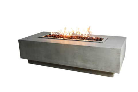 The Best Outdoor Fire Pit - Elementi Granville Rectangular Fire Pit Table OFG121