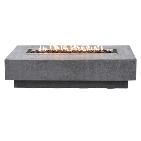 Top 10 Best Fire Pits For Your Deck This Summer - Elementi Hampton Rectangle Concrete Fire Pit Table OFG139