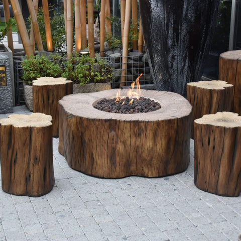 Top 10 Best Fire Pits For Your Deck This Summer - Elementi Manchester Irregular Round Concrete Fire Pit Table