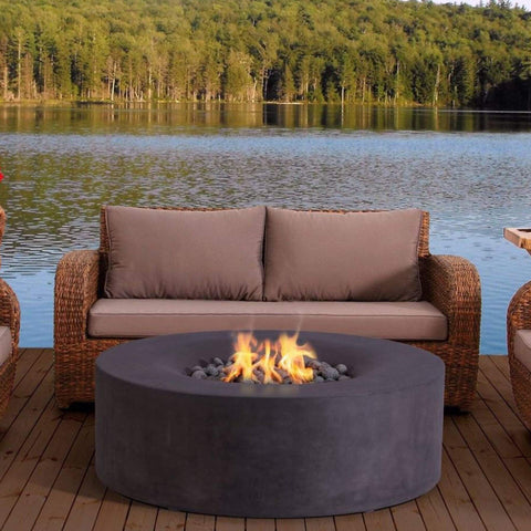 Top 10 Best Fire Pits For Your Deck This Summer - PyroMania Fire Avalon Round Concrete Fire Pit Table