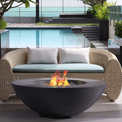 Top 10 Best Fire Pits For Your Deck This Summer - PyroMania Fire Shangri-La Round Concrete Fire Pit Table